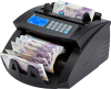 money counter machine counts the total value as well as the total quantity for single denomination banknotes