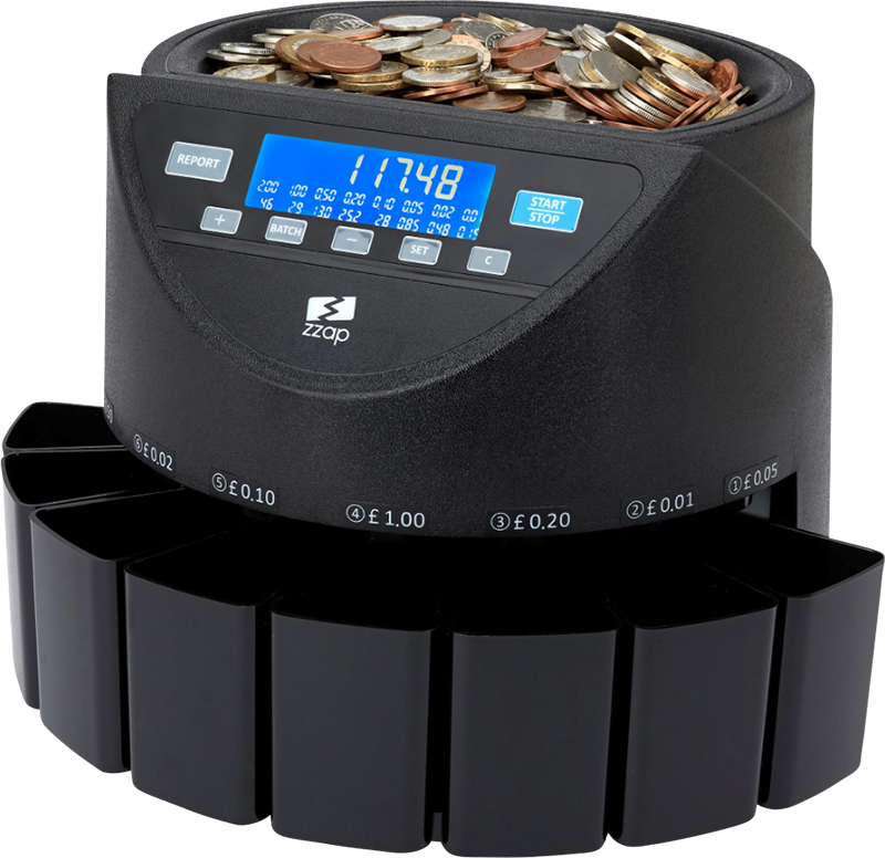 coin counter machine counting GBP