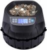CS40 coin counter with coins in hopper