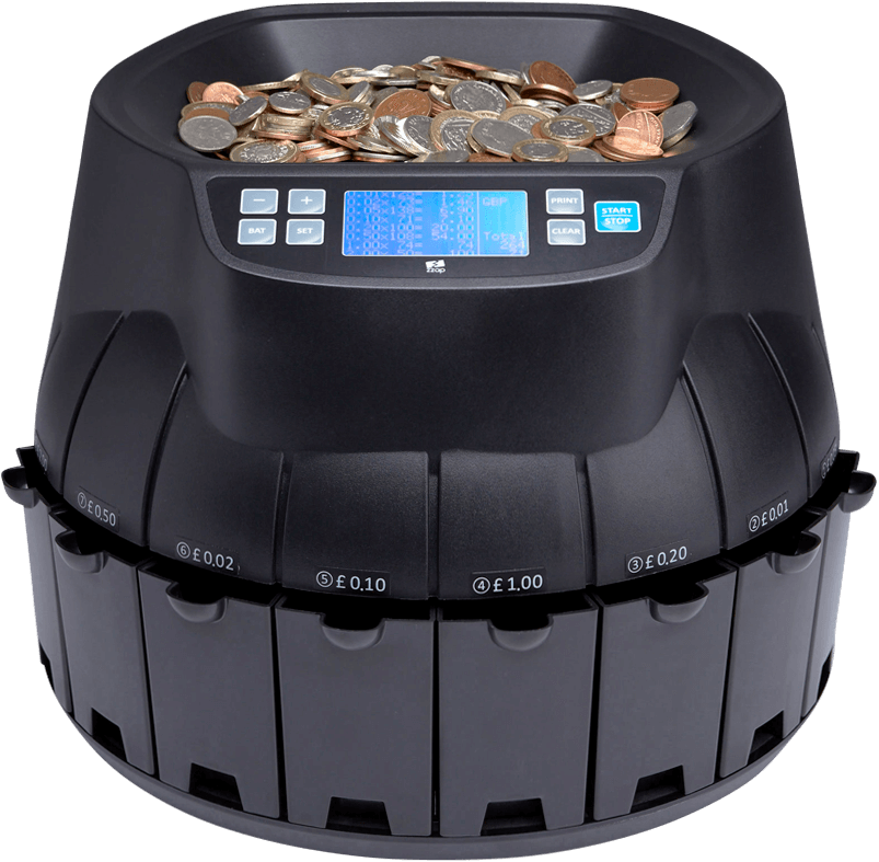 Coin Counters & Sorters | Coin Sorting Machines | ZZap