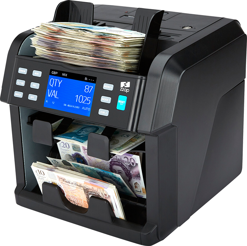 money counting machine zzap nc70 value counts mixed denominations