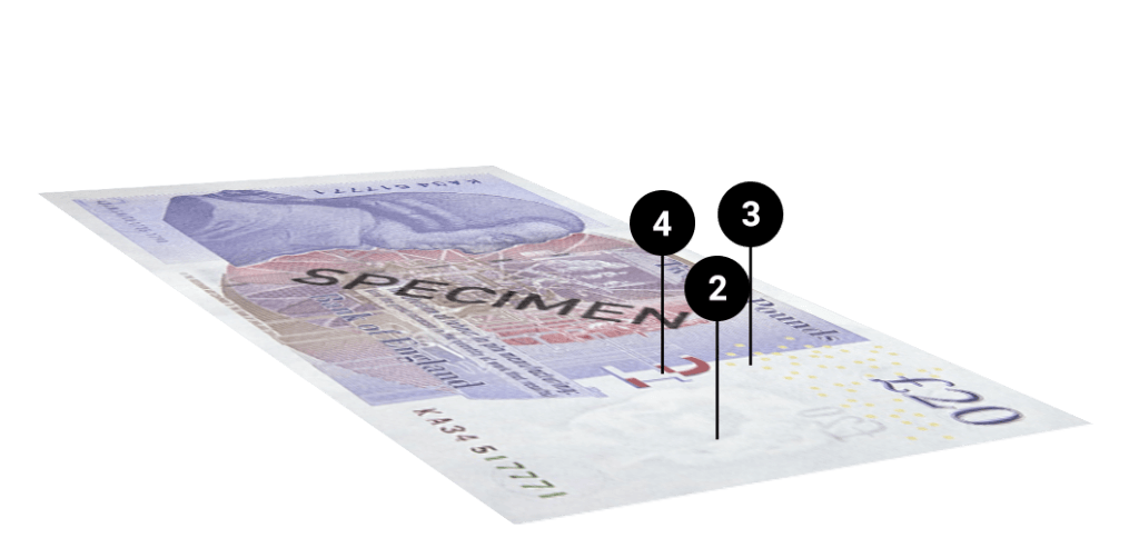 Spotting counterfeit twenty pound notes