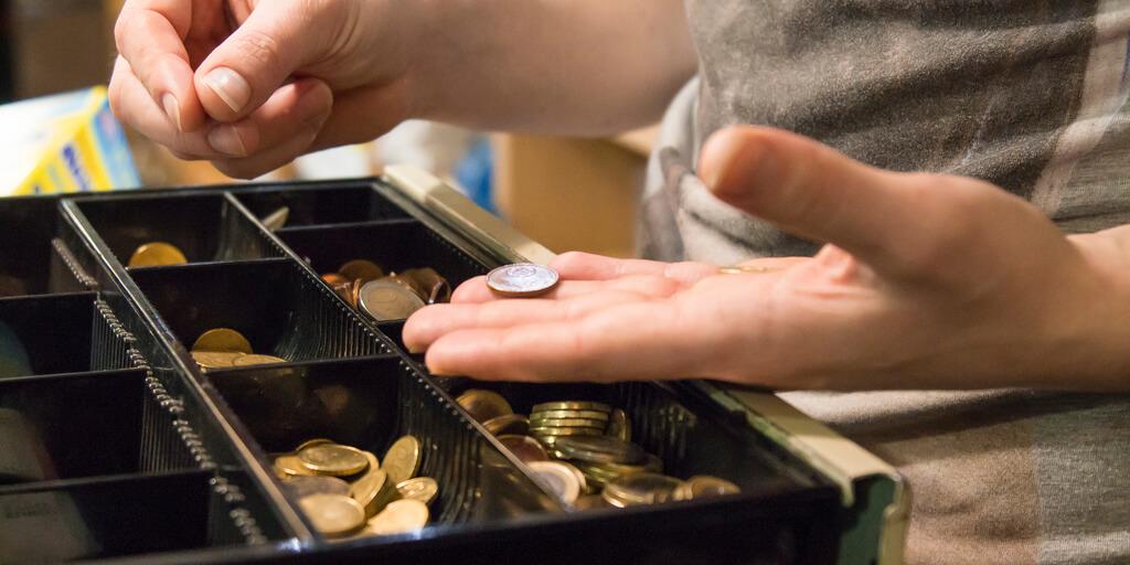 Cash in the till