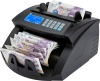 Money counting machine counting the new polymer banknotes