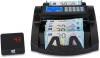 Banknote counter has automatic and manual start
