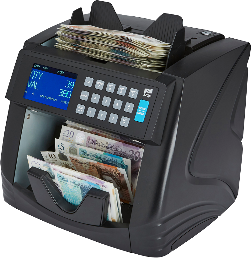NC60 money counting machine value counts up to 12 currencies