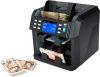 currency counter machine counts notes into batches