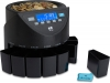 currency counting machine batches coins for coin rolls