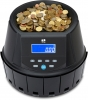 money counting machine counts EURO coins